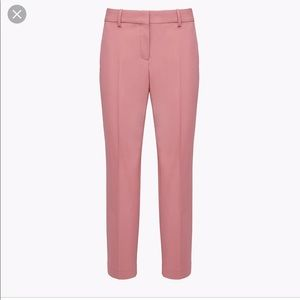 THEORY || classic slim cropped pink wool pants NWT